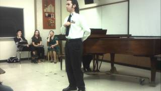 When I was a lad I Served A Term sung by Michael Garcia