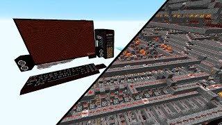 Ein RIESIGER funktionierender REDSTONE Computer! - Minecraft Map