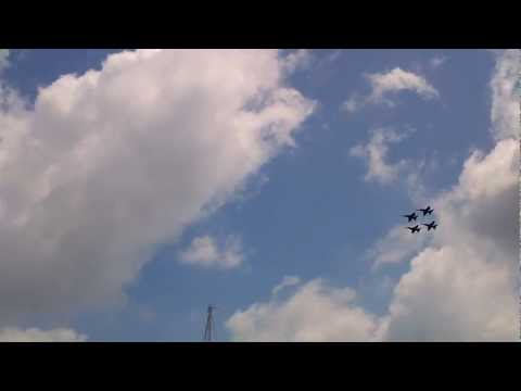 Blue Angels Fly-over At Boston Harbor