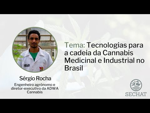"""""""Tecnologias para a cadeia da Cannabis Medicinal e Industrial no Brasil"""" - Com Sérgio Rocha"""