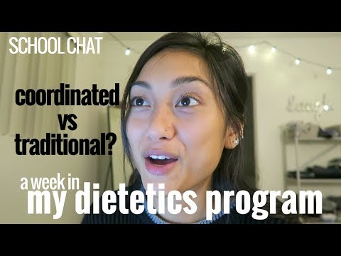 coordinated program vs. traditional nutrition degree // school chat #2 Q+ A