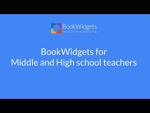 BookWidgets for Middle and High School Teachers