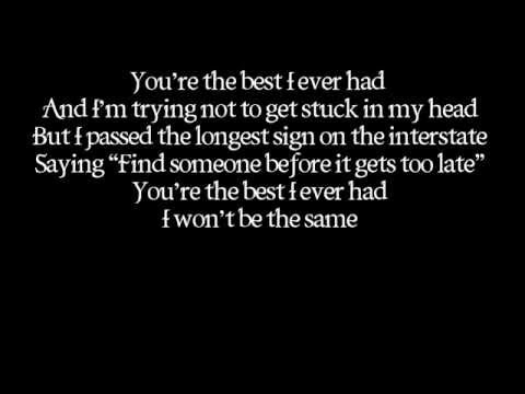 Gavin Degraw- Best I Ever Had (LYRICS ON SCREEN) (AUDIO)