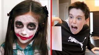 BEST HALLOWEEN MOMENTS CAUGHT ON CAMERA!! - (Eh Bee Family)