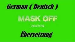 FUTURE MASK OFF GERMAN DEUTSCH LYRIC VIDEO