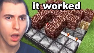 Reacting to Minecraft Infinite Netherite Duplication Glitch