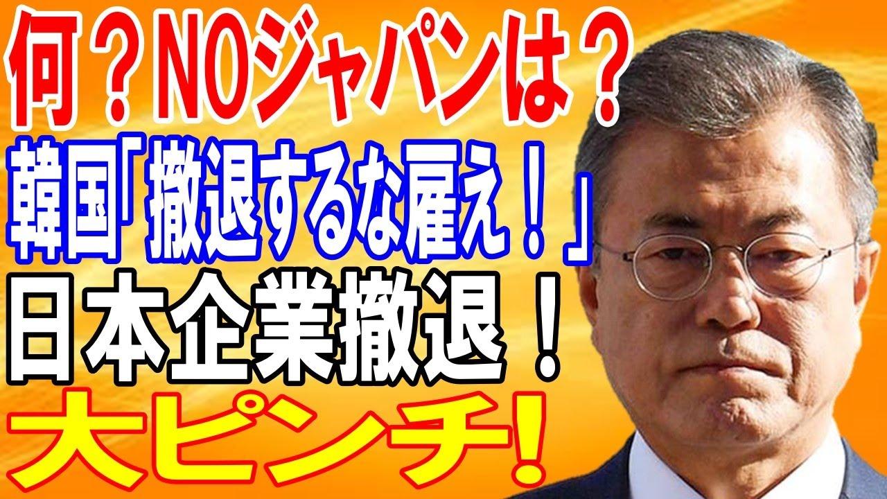 【海外の反応】日本企業「もう撤退します」→韓国「撤退取り消せ!責任持てよ!」→日本企業…【日本の魂】