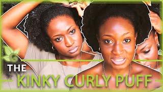 Natural Hairstyle ~ Kinky/Curly Puff (Thick Natural Hair) Thumbnail