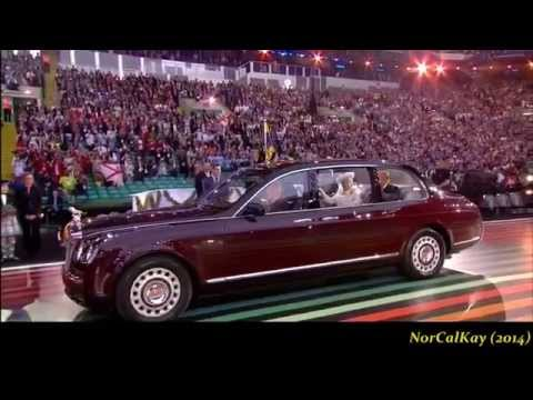 Susan Boyle ushered in The Queen w/Mull Of Kintyre - 2014 Commonwealth Games Opening Ceremony