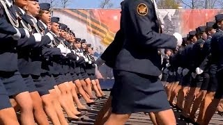 Russian Police Girls Parade in Ryazan, Russia