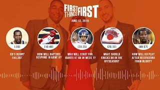 First Things First audio podcast(6.12.19)Cris Carter, Nick Wright, Jenna Wolfe | FIRST THINGS FIRST