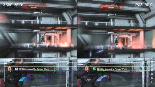 Mass Effect 2 demo Xbox 360/PS3 Frame-Rate Comparison