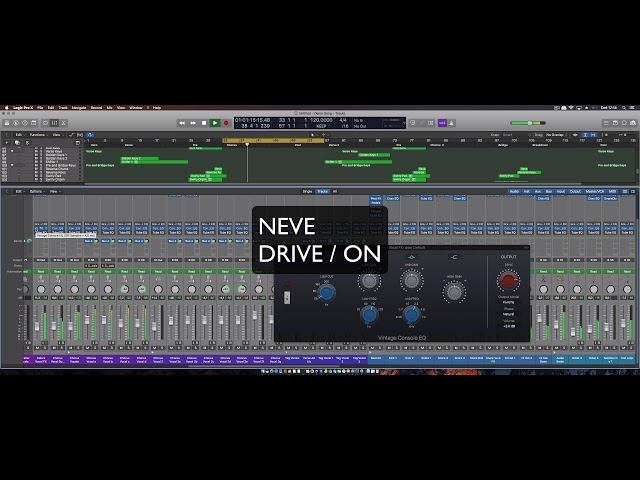 Logic Pro 10.4 update Vintage Drive Sound Demo Reel