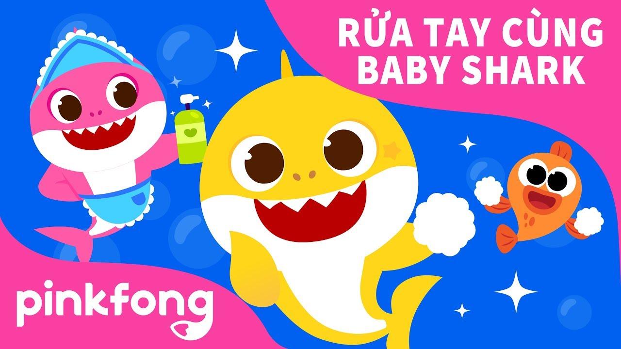 THỬ THÁCH RỬA TAY CÙNG BABY SHARK   Bài hát để rửa tay   Pinkfong Những bài hát cho thiếu nhi