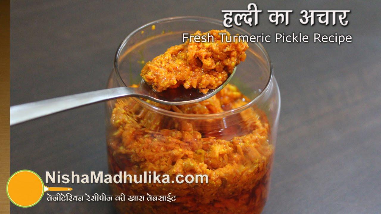 Fresh Turmeric Pickle Kachi Haldi Achar Recipe Youtube