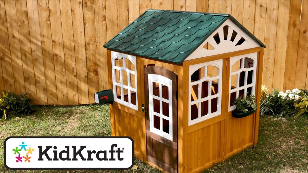 Garden View Outdoor Playhouse Toy Demo By KidKraft