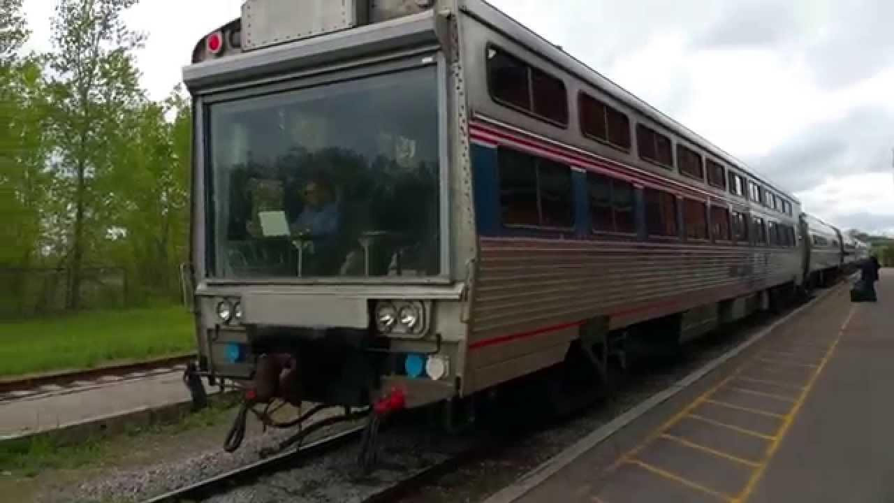 Amtrak Train At Niagara Falls Ontario Canada 4k Youtube