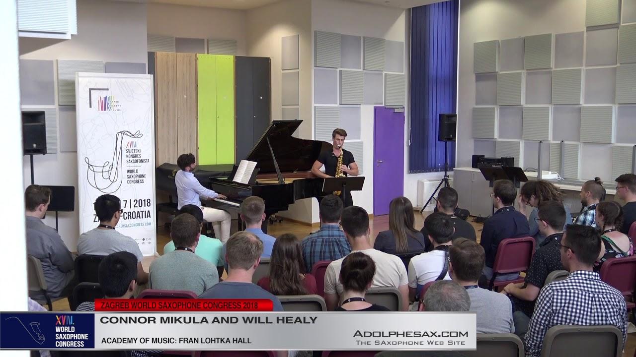 Sonata by Will Healy   Connor Mikula & WIll Healy   XVIII World Sax Congress 2018 #adolphesax
