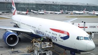 British Airways First Class Review + Heathrow Concorde Lounge - B777-200 - London to Doha  - BA125