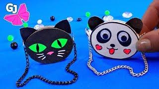 Панда и Кот DIY - МИНИ СУМОЧКИ ИЗ БУМАГИ