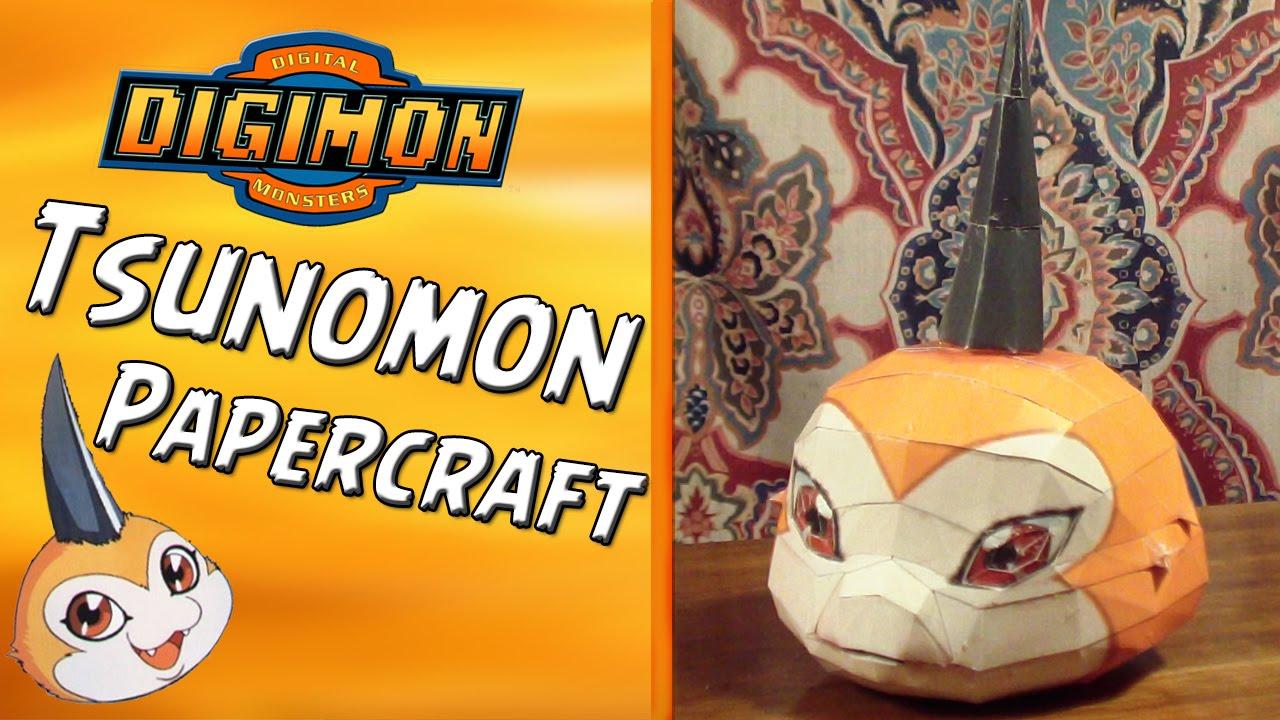tsunomon papercraft speedbuild digimon papercraft 1 por
