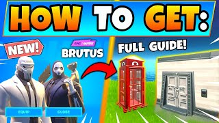 Fortnite BRUTUS BRIEFING CHALLENGES! - SHADOW and GHOST + ID Scanners (Battle Royale Season 2)