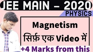 Magnetism || Physics in one Shot - JEE Physics - JEE 2020