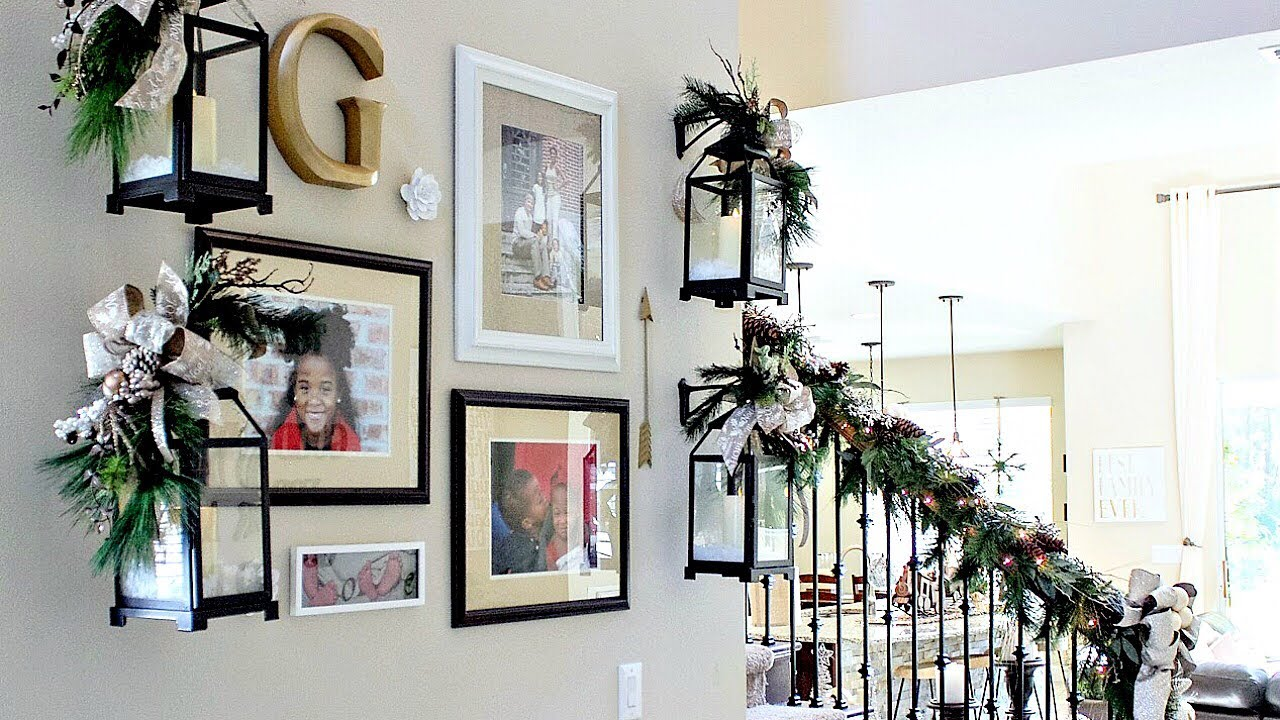 how to decorate staircase garland day 6 of the 12 days of christmas