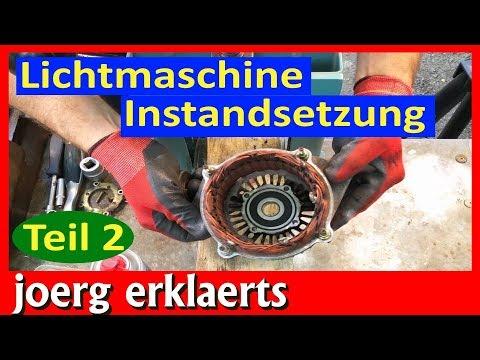 Lichtmaschine reparieren überholen Generator Instandsetzung Teil 2 Tutorial Nr.197