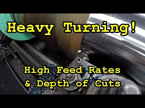 "SNS 149: Turning a 12"" Shaft, Heavy Cutting & Feed Rates"