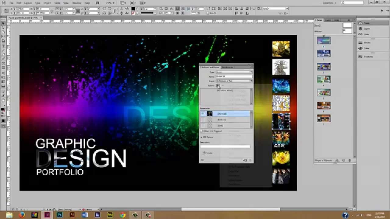 creating an interactive portfolio indesign part  creating an interactive portfolio indesign part 3