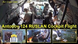Antonov 124 Flight ADB 178 Series Part 2: Cockpit flight from Rio to Cayenne by [AirClips]