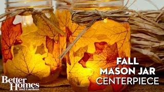 Fall Mason Jar Centerpiece Youtube