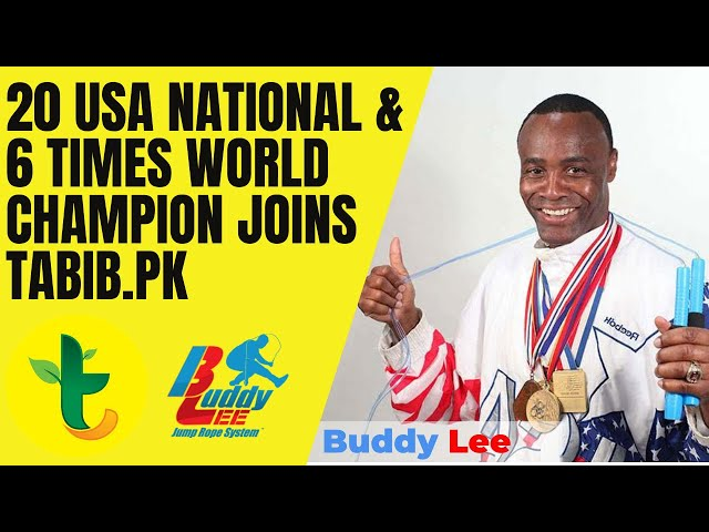 Buddy Lee (Jump Rope) 20 Time USA National & 6 Time World Champion Joins Tabib.pk