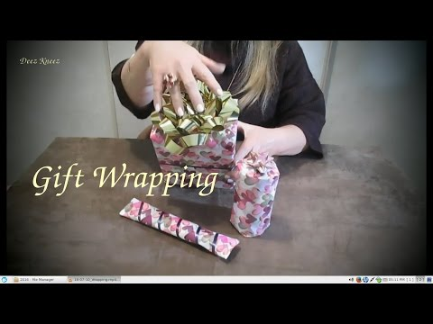 Gift Wrapping My Sister's Birthday Present ASMR