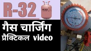 How to charge gas R32 refrigerants on AC ! कैसे R32 गैस को AC में charge करना है!!  Carefully