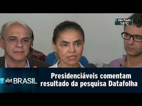 Candidatos à Presidência comentam resultado da pesquisa Datafolha | SBT Brasil (11/09/18)