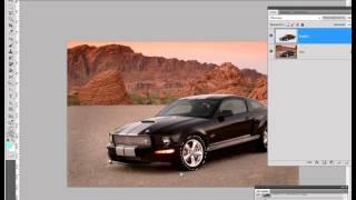 Урок Photoshop - движение автомобиля.