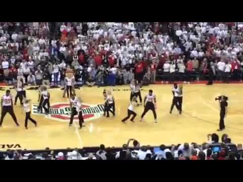 Ohio State Dance Team & Football Team Collaboration
