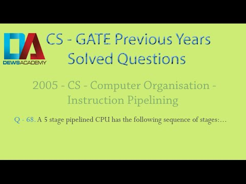 CS Gate 2005 - Q.68 - Instruction Pipelining - Cache and Main Memory