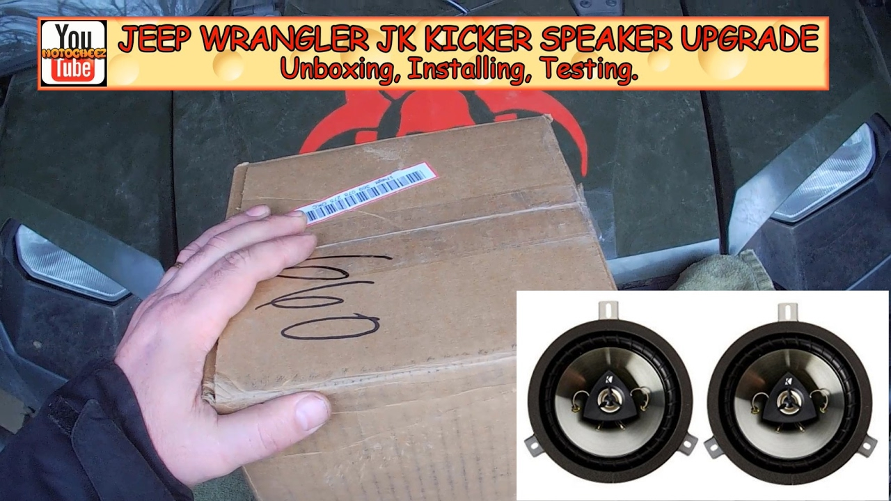 Jeep Wrangler Kicker Speaker Upgrade Unboxing Install Test 2010 Headlight Wiring Review