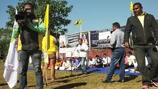 "#Rangja_Bodo Phanin Boro Speech // 3 Hours Dharna Early Solution of ""BODOLAND"" Demand at Kajalgaon"