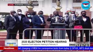 GhanaWeb TV Live: Election Petition Hearing; Monday February 8, 2021