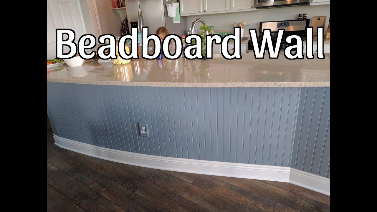 Beadboard Kitchen Island Cabinets Door Knobs Wall On Youtube