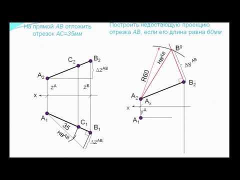 Как определить расстояние от точки до прямой начертательная геометрия