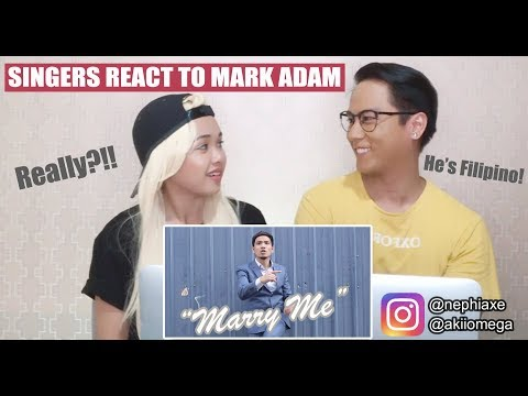 [SINGERS REACT] Mark Adam - Marry Me Official Music Video