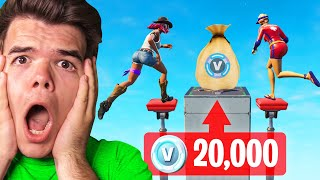 FINISH The DEATHRUN To WIN 20,000 V-BUCKS! (Fortnite Challenge)