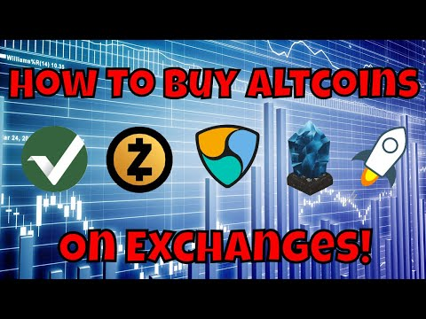How To Buy Altcoins On An Exchange (For Beginners)
