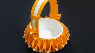 How to Make Foam Basket in Easy Way