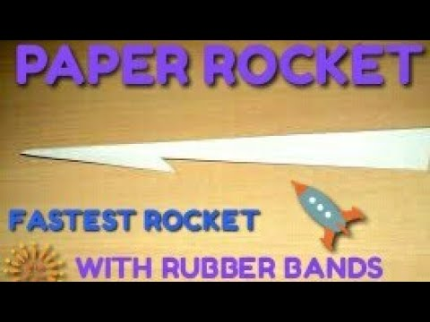 HOW TO MAKE A PAPER ROCKET (DIY)